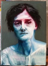 mugshot, blue red woman, 1, 2013